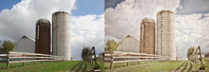 two silos_side by side